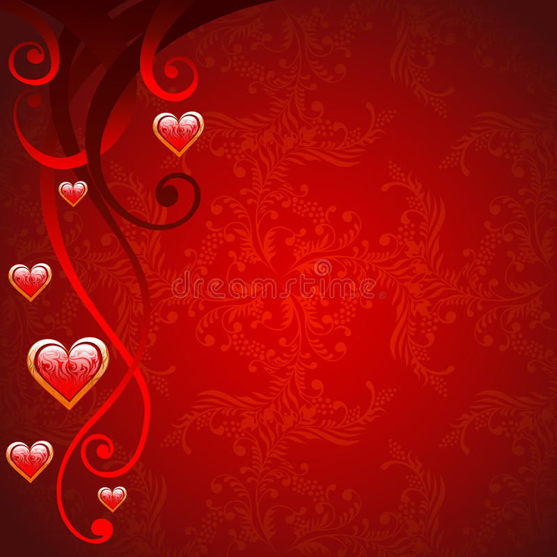 Fond rouge du jour de Valentine illustration stock