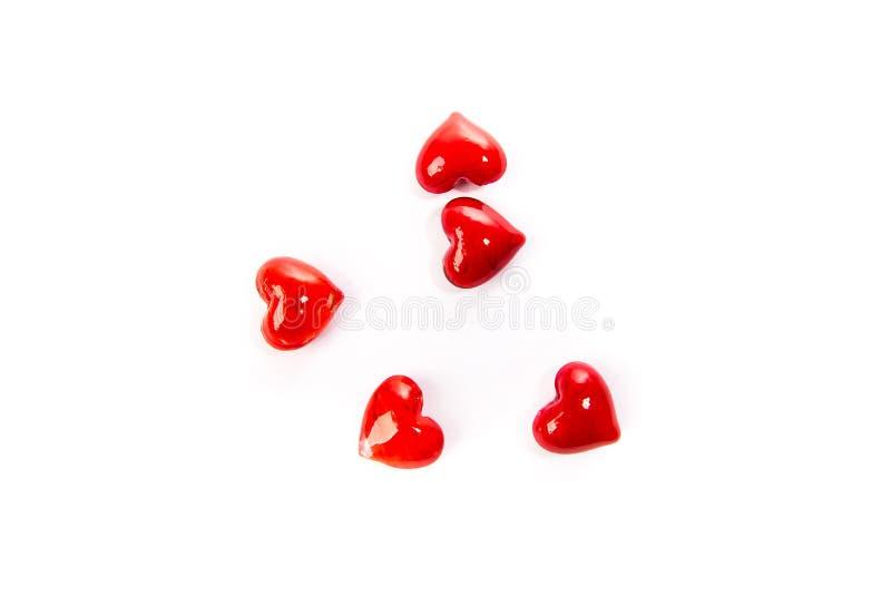 Fond rouge en verre de coeur photos libres de droits