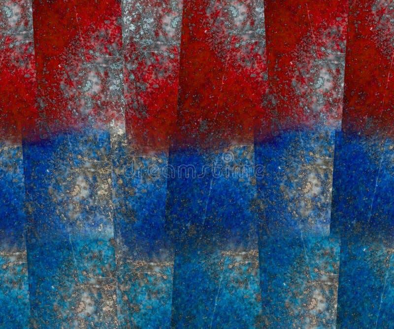 Fond rouge et bleu de grunge de bloc de lazulite de lapis illustration libre de droits