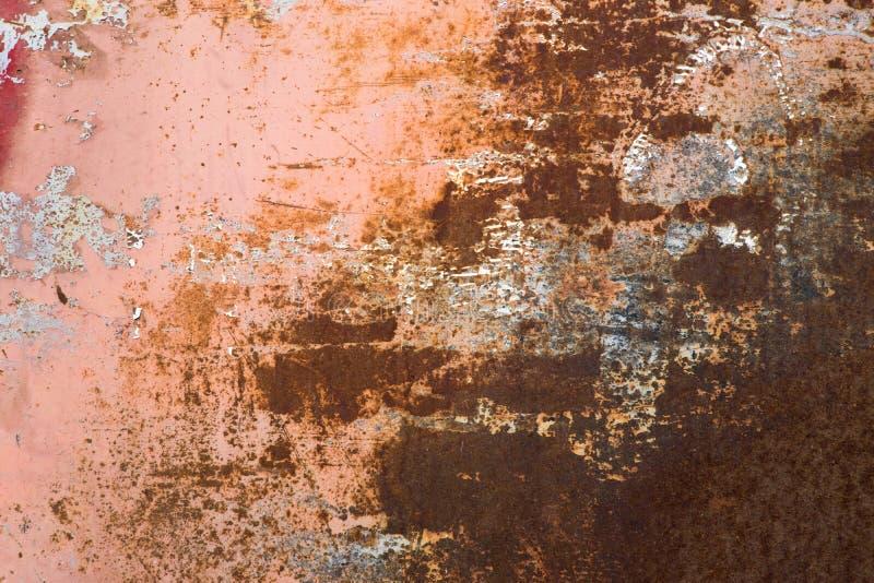 Fond rouge et brun grunge de feuillard de rouille de couleur illustration stock