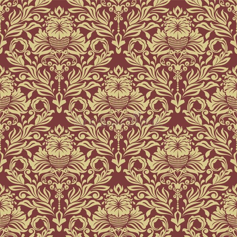 Fond rouge et jaune sans couture de vintage illustration de vecteur