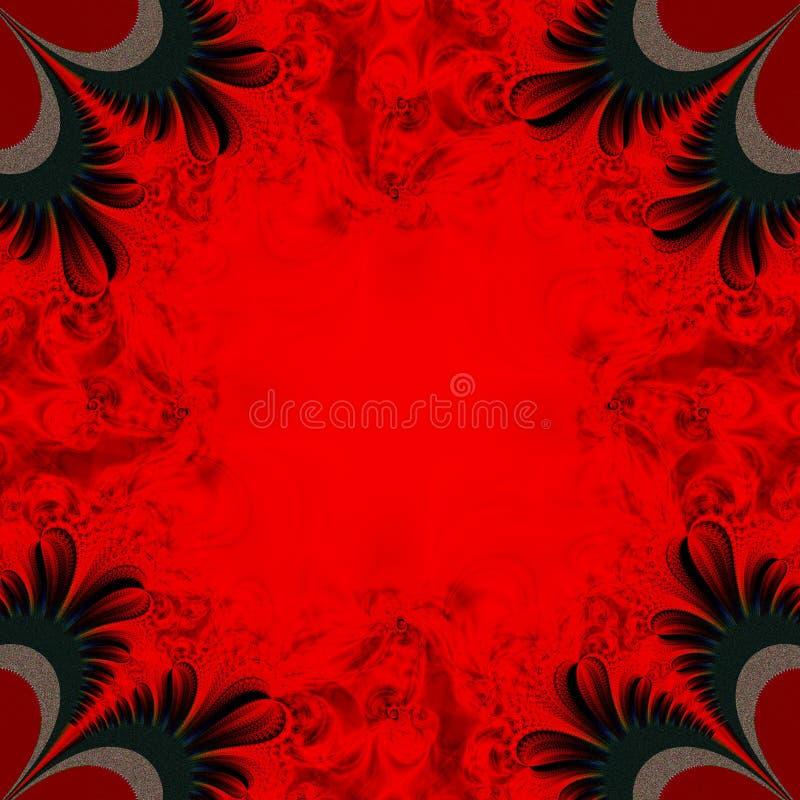 Fond rouge et noir illustration libre de droits