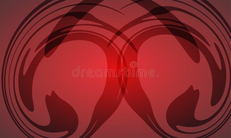Fond rouge et noir lumineux abstrait illustration stock