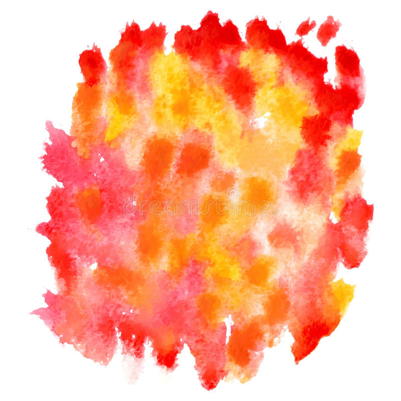 Fond rouge et orange abstrait d'aquarelle illustration libre de droits