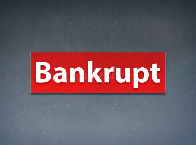 Fond rouge faillite d'abrégé sur bannière illustration de vecteur
