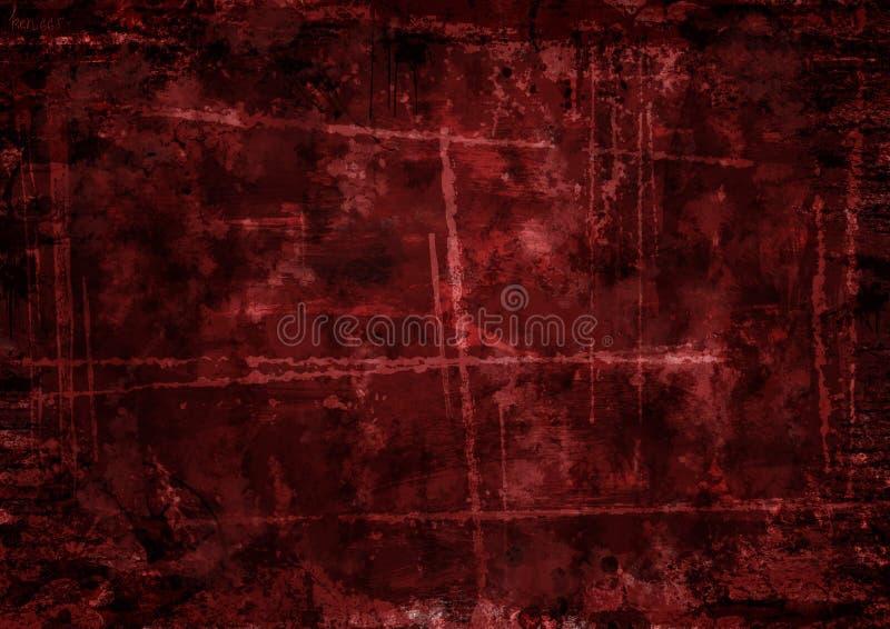 Fond rouge foncé dans le style grunge photo libre de droits