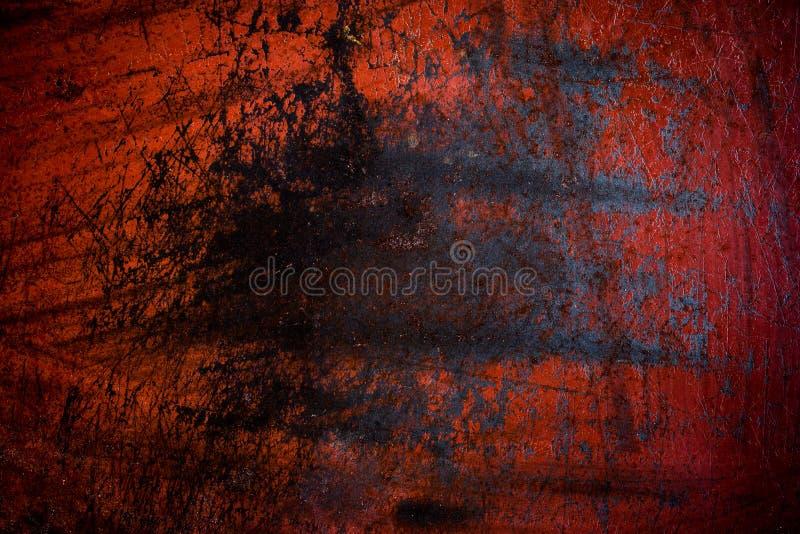 Fond rouge grunge de rouille de fer images stock