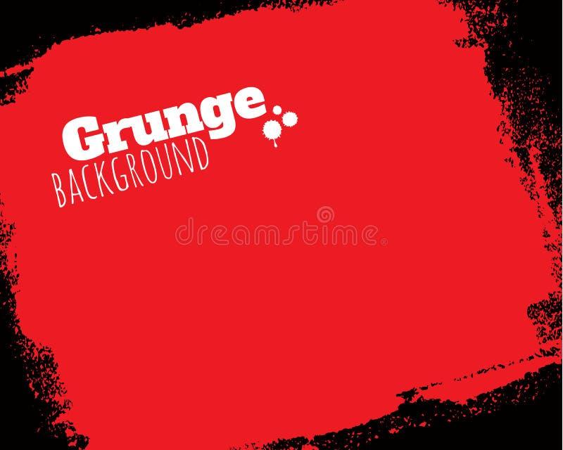 Fond rouge grunge texturisé roulé illustration stock