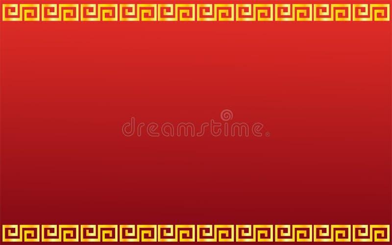 Fond rouge heureux chinois illustration stock