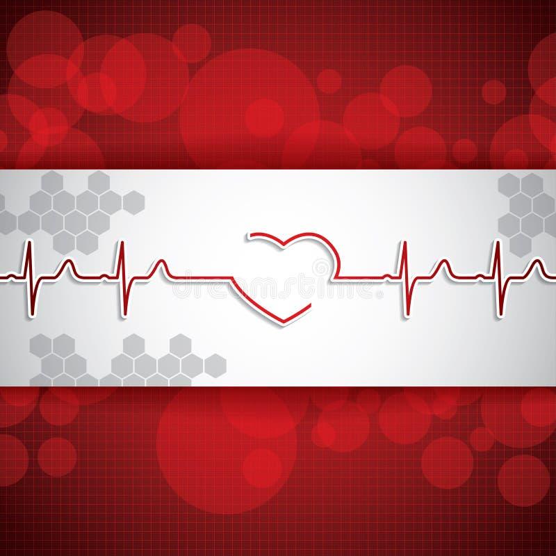 Fond rouge médical abstrait de couleurs claires illustration stock