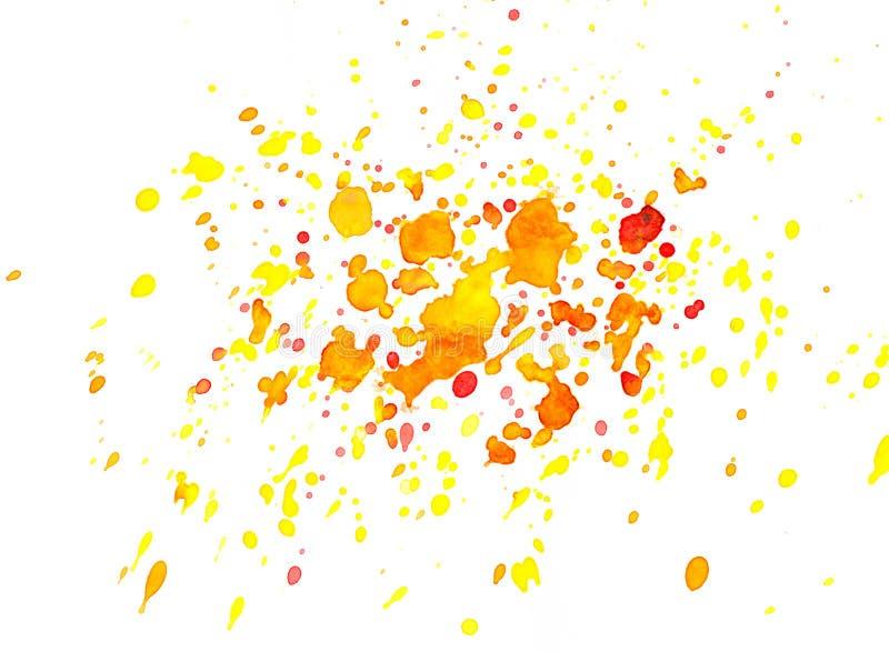 Fond rouge, orange et jaune abstrait d'aquarelle image libre de droits