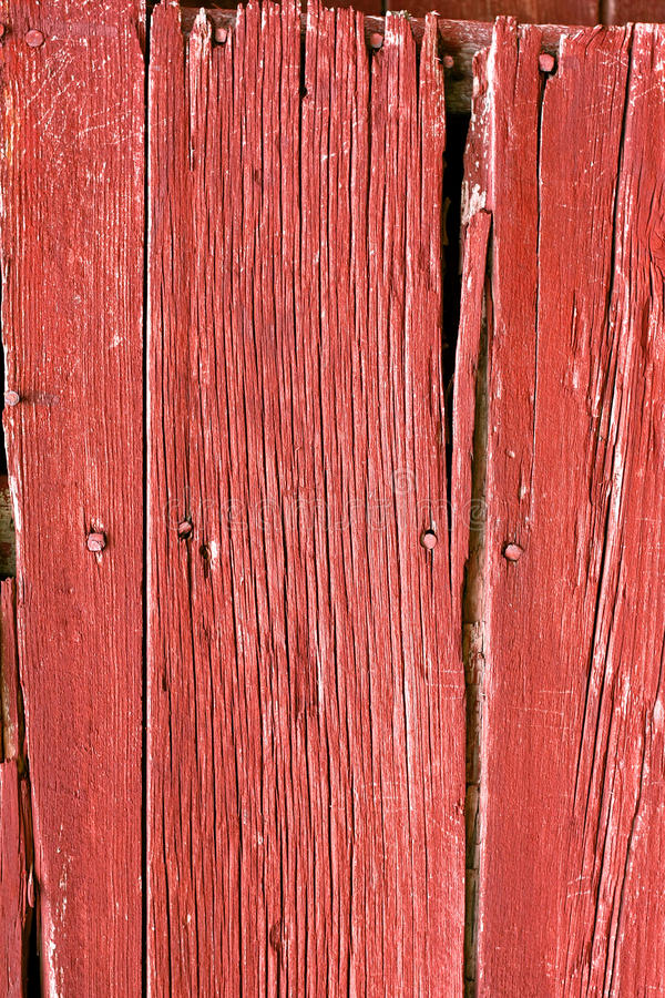 Fond rouge rustique en bois de grange photo libre de droits