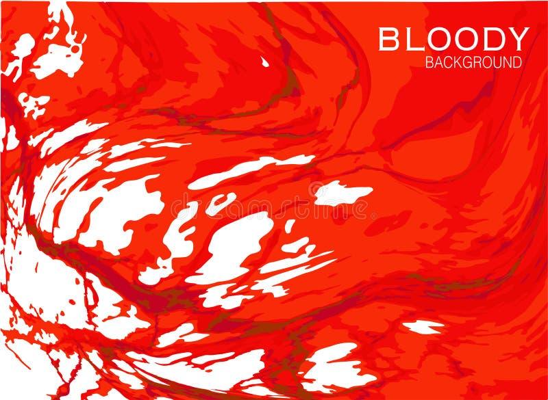Fond rouge sanglant illustration stock