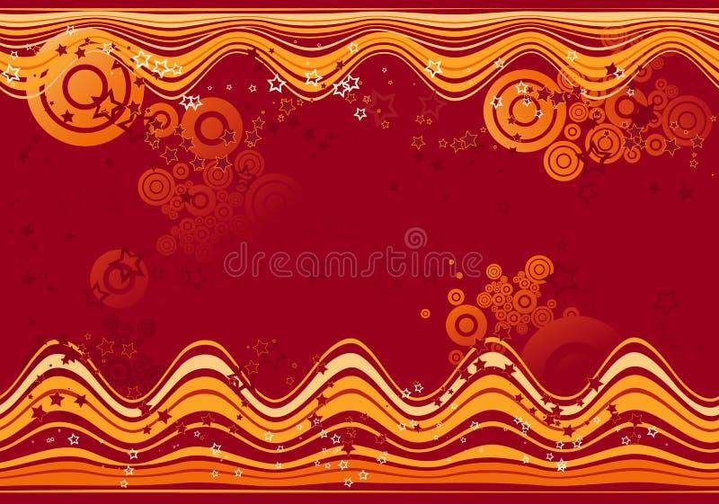 Fond rouge, vecteur illustration stock