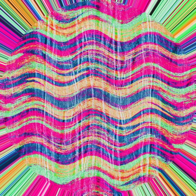 Fond rouge, vert et bleu coloré d'abrégé sur bannière de vague photo libre de droits