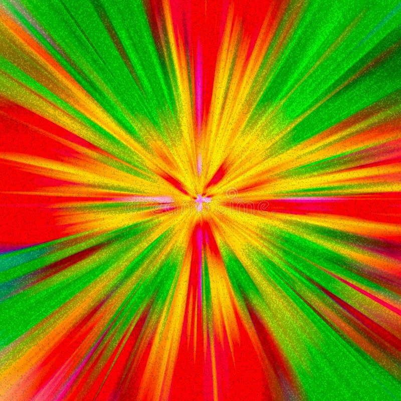 Fond rouge, vert et jaune coloré de couleur d'abrégé sur reggae illustration libre de droits