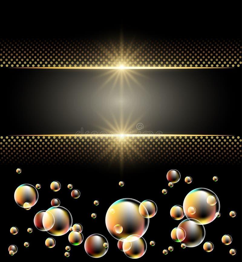 Fond rougeoyant avec des étoiles illustration stock