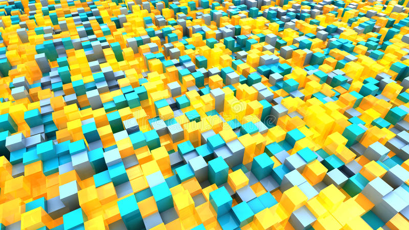 Fond rougeoyant de cubes illustration de vecteur