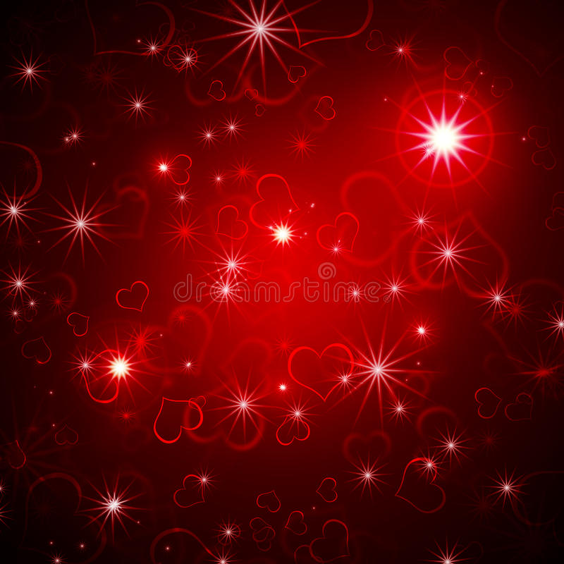 Fond rougeoyant de Valentine illustration de vecteur