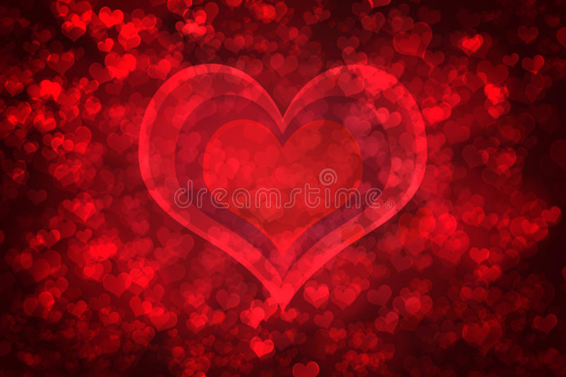 Fond rougeoyant rouge de Saint-Valentin illustration stock
