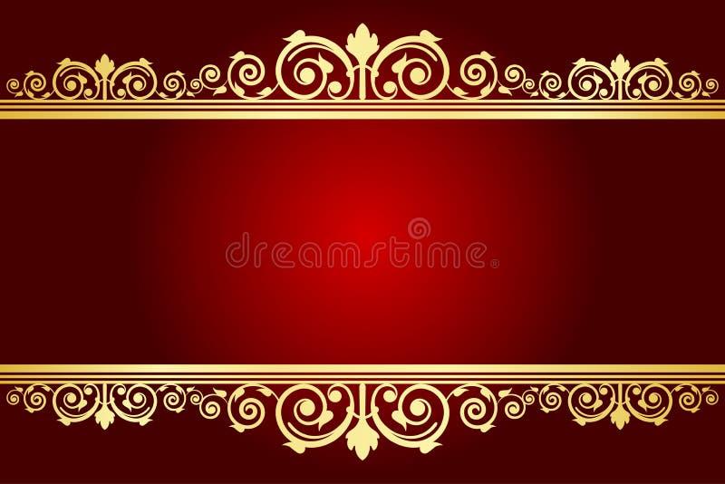 Fond royal avec le cadre décoré illustration stock