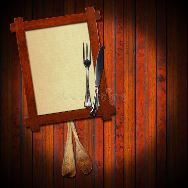 Fond rustique de menu illustration de vecteur