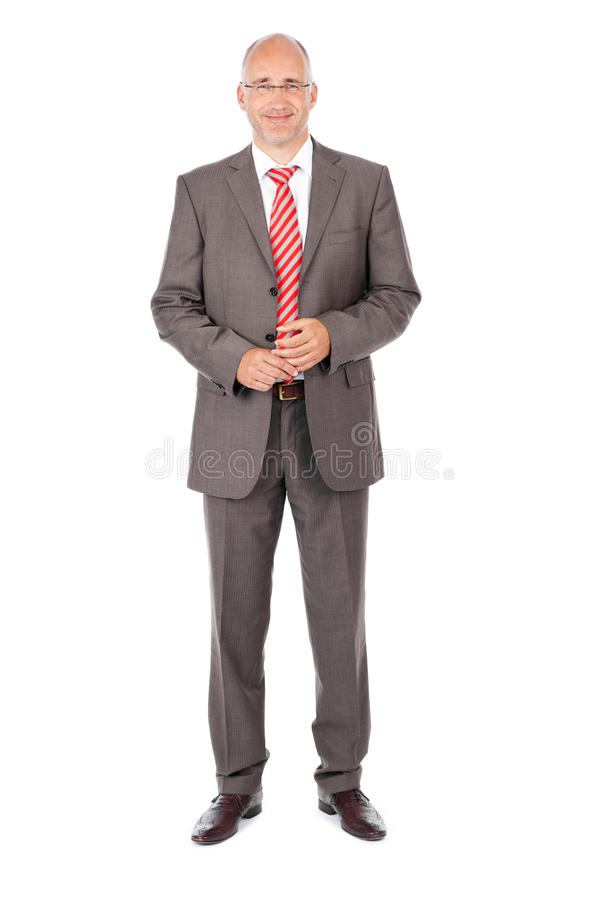 Fond sûr de Standing Over White d'homme d'affaires photos libres de droits