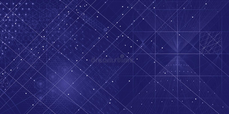Fond sacré de symboles et d'éléments de la géométrie photographie stock