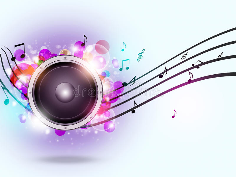 Download Fond Sain De Musique De Haut-parleur Illustration Stock - Illustration du multicolore, affiche: 45350316