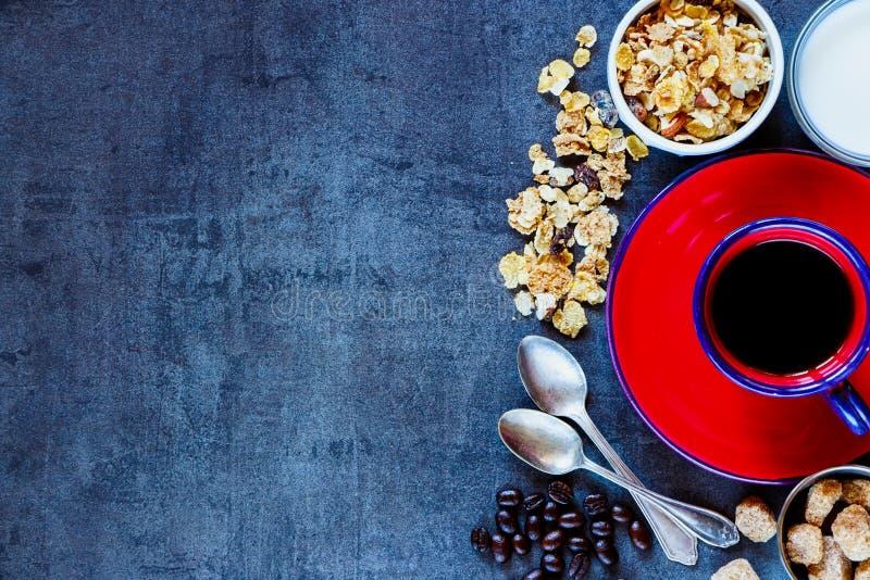 Fond sain de petit déjeuner images stock