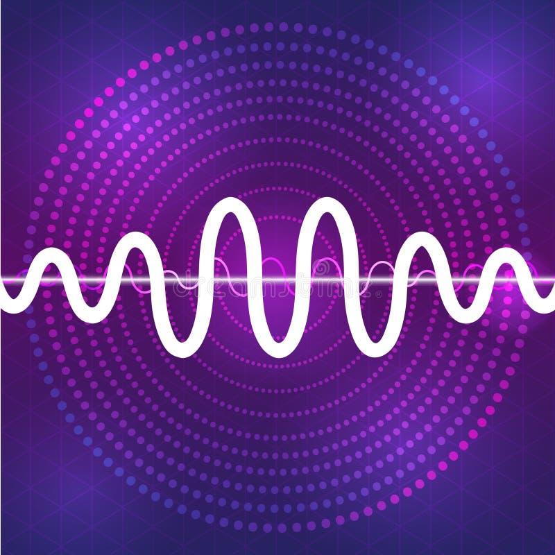 Fond sain et audio de conception de forme d'onde photos libres de droits