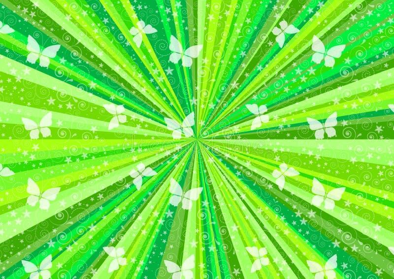 Fond saisonnier d'anniversaire avec les faisceaux color?s, contexte abstrait pour une affiche heureuse de partie illustration stock