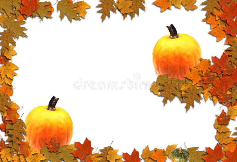 Fond saisonnier de cadre d'automne image libre de droits