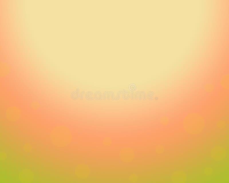 Fond saisonnier naturel abstrait d'automne de printemps illustration stock