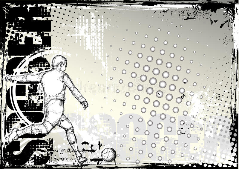 Fond sale 2 du football de crayon illustration de vecteur