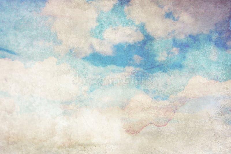 Fond sale avec les nuages blancs illustration de vecteur