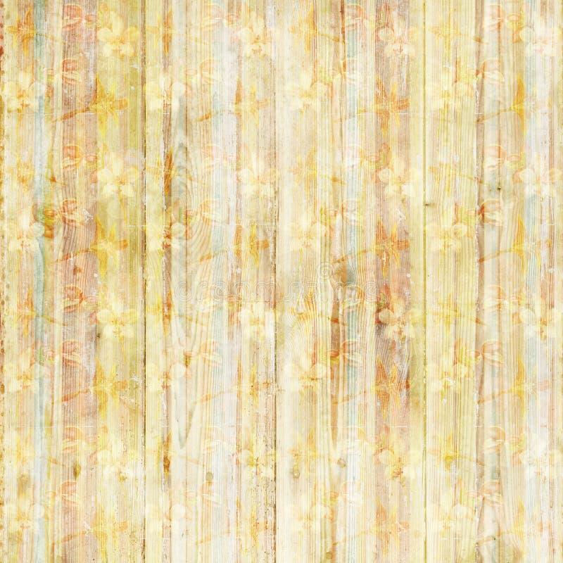 Fond sale fané en bois de fleurs illustration libre de droits