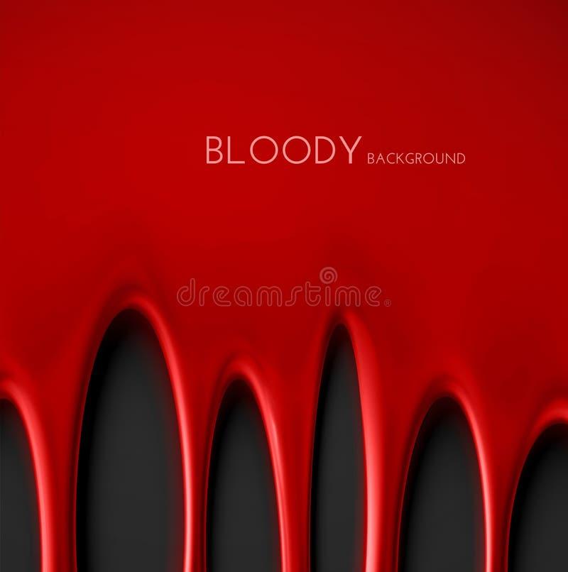Fond sanglant illustration libre de droits