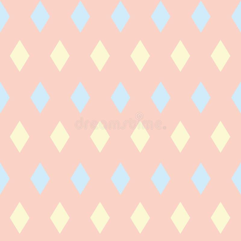 Fond sans couture abstrait avec le losange coloré Fond rose-clair Configuration géométrique illustration de vecteur