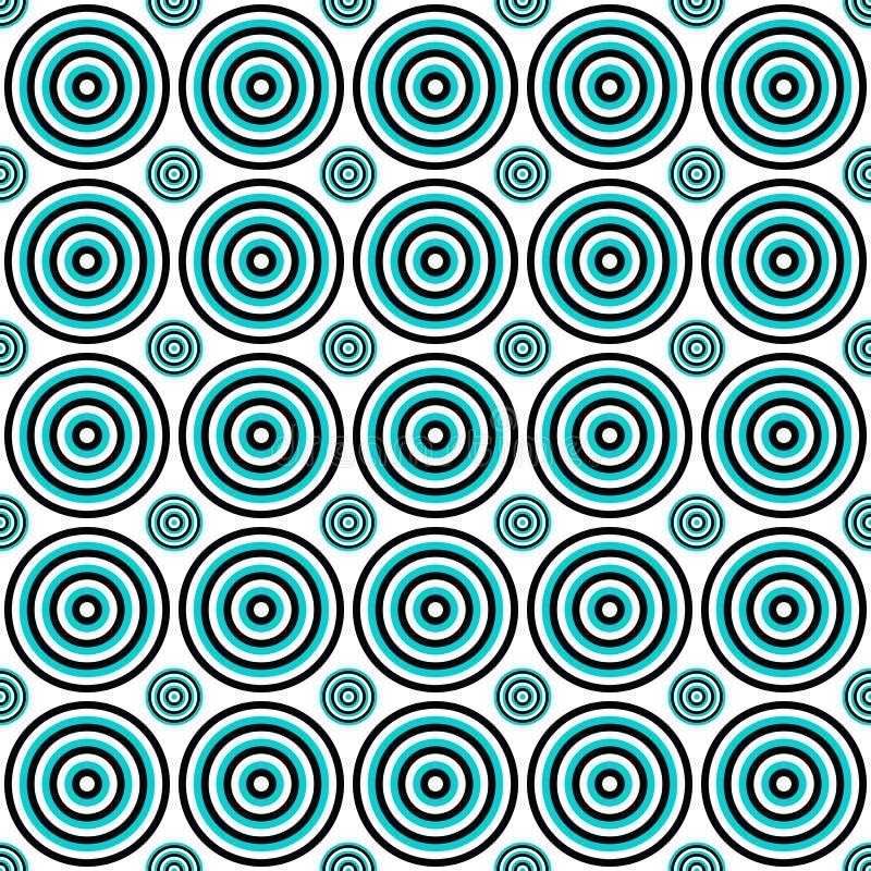 Fond sans couture abstrait de modèle de cercle - graphique de vecteur illustration de vecteur