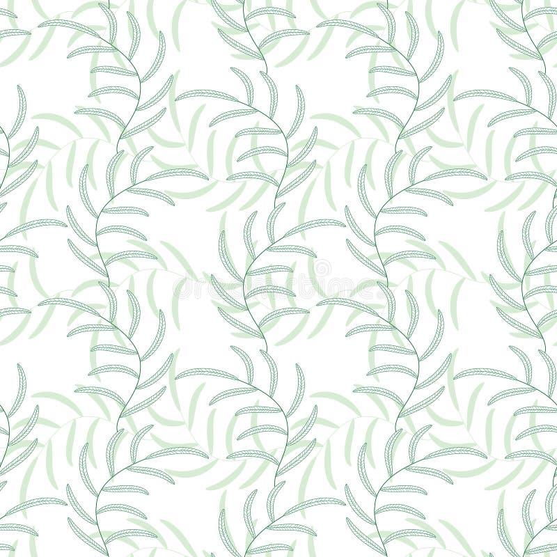 Fond sans couture abstrait floral de vecteur de feuille illustration de vecteur
