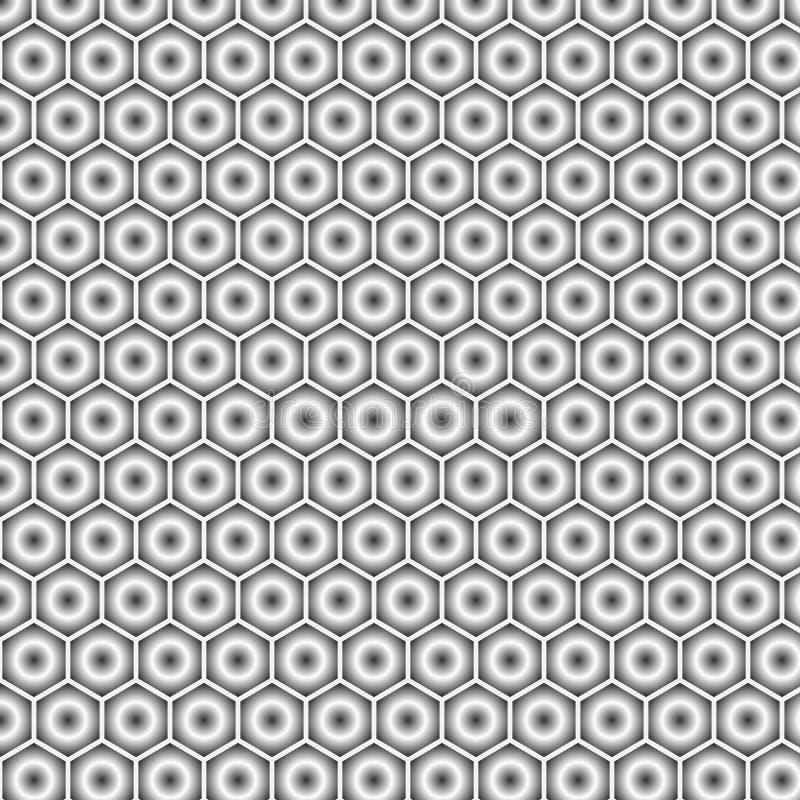 Fond sans couture abstrait géométrique moderne de vecteur gris sous forme d'hexagones illustration libre de droits