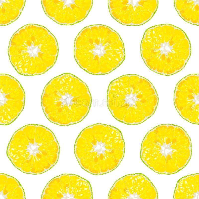 Fond sans couture aligné par tranche orange illustration stock