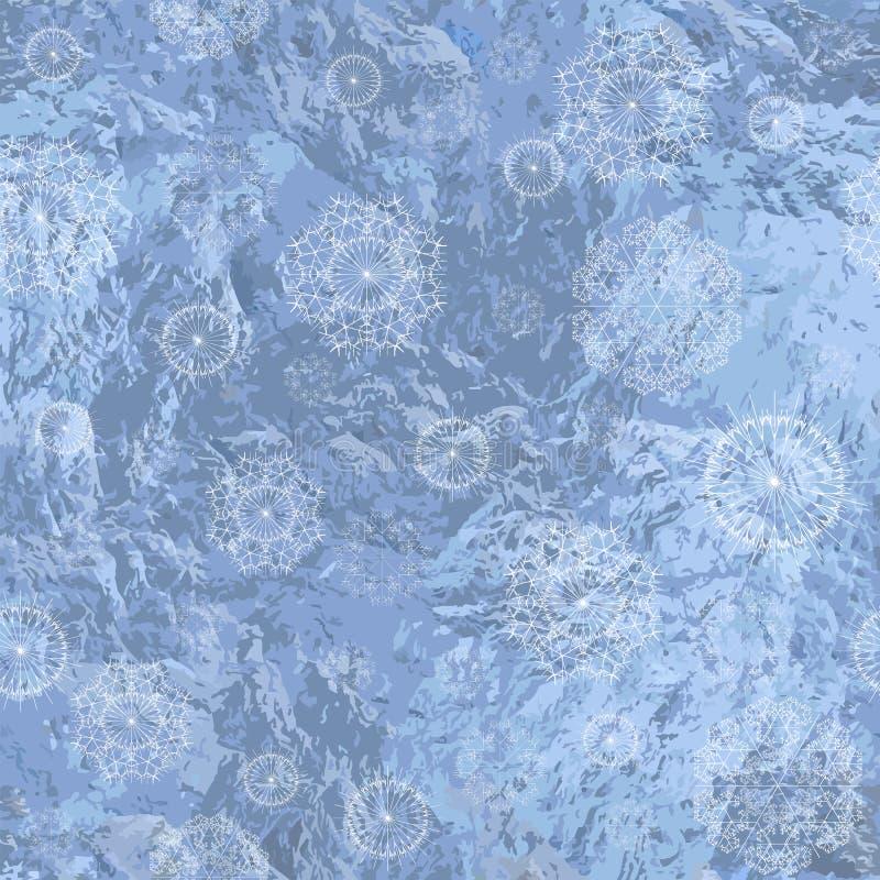 Fond sans couture avec des flocons de neige illustration stock