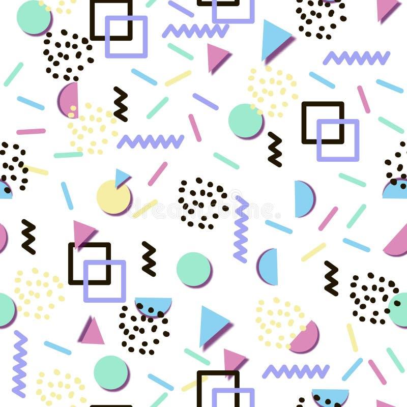 Fond sans couture avec des formes géométriques abstraites colorées illustration de vecteur