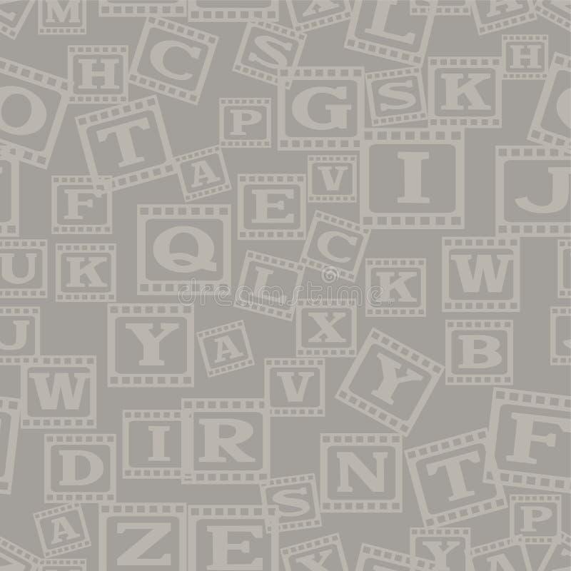 Fond sans couture avec des lettres illustration libre de droits