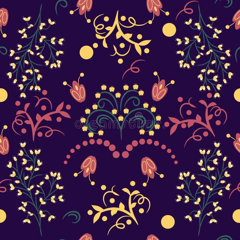 Fond sans couture avec des motifs folkloriques illustration libre de droits