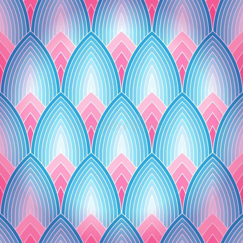 Fond sans couture avec des pétales de lotus illustration de vecteur