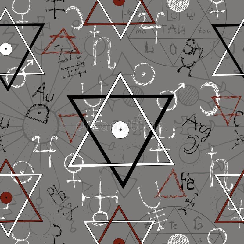 Fond sans couture avec des pentagones étoilés illustration de vecteur