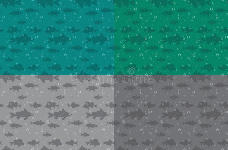 Fond sans couture avec des poissons illustration stock